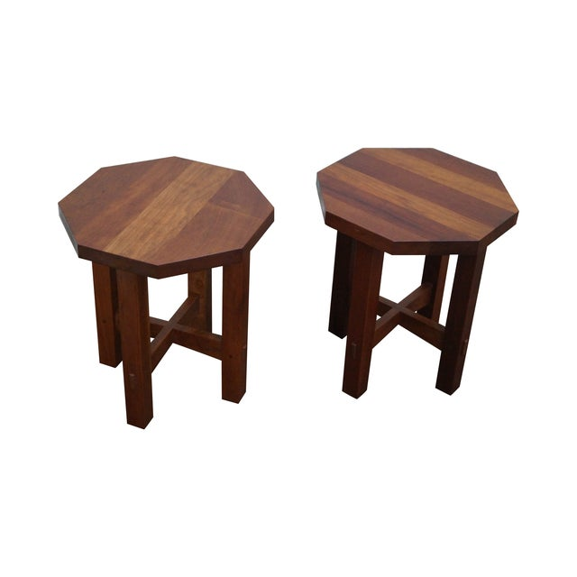 Stickley Mission Style Cherry Side Tables - B Pair - Image 1 of 10