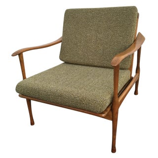 Mid-Century Danish Lounge Chair, Made in Italy