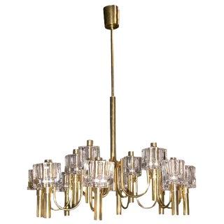 Mid-Century Modern Italian 12 Light Chandelier