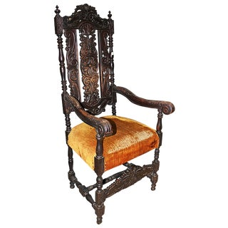 English Baroque Gothic Armchair