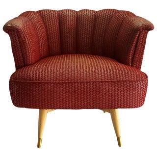 Mid Century Barrel Backed Club Chair