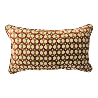 Burgundy & Gold Chenille Accent Pillow