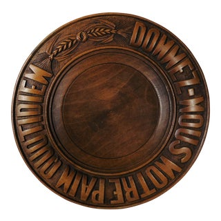 French Bread Wood Platter