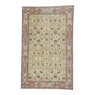 Vintage Turkish Oushak Rug - 6′5″ × 10′2″