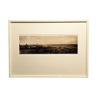 "Kevin Lynch ""Mendocino Headlands"" Sepia Photograph"