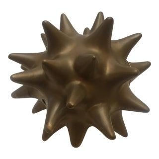 Antique Gold Urchin Sculpture