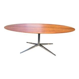 Florence Knoll Oval Walnut Table 1961