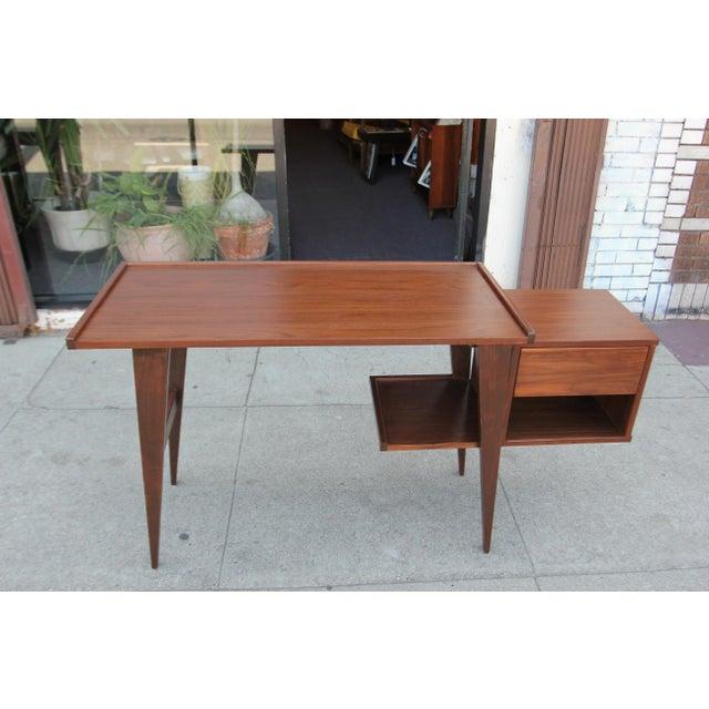 Image of Modern Walnut Writing Desk