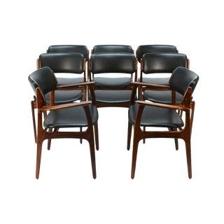 Erik Buck Model 49 Rosewood Dining Chairs - Set of 8