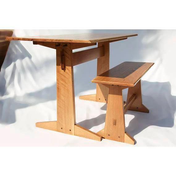 Japanese Style Trestle Table U0026 Bench   Image 2 ...