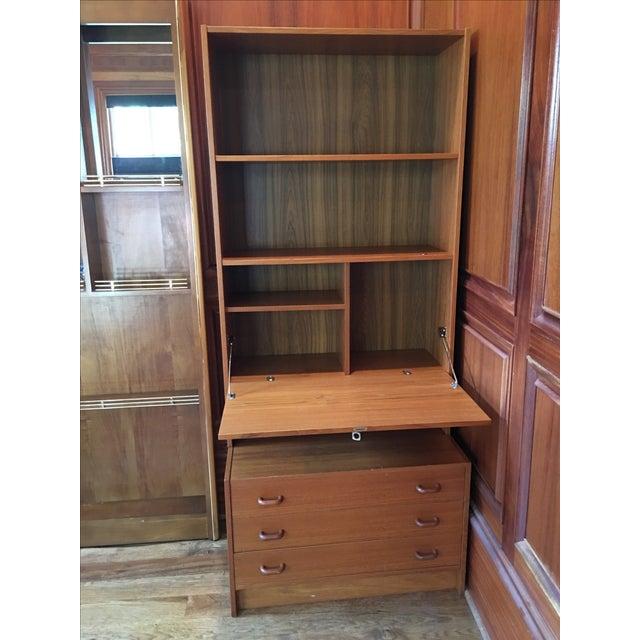 mid century modern secretaire chairish. Black Bedroom Furniture Sets. Home Design Ideas