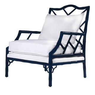 Kennedy Lounge Chair - Navy Lacquer (No Back Cushion)