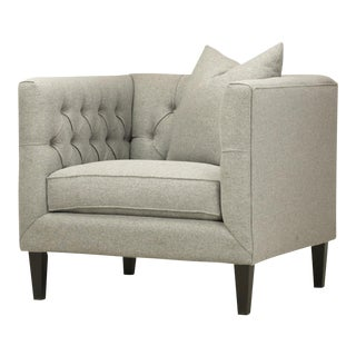 Spectra Home Modern Light Gray Tuxedo Chair