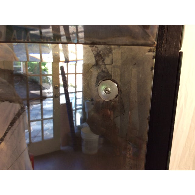 Mid-Century Modern Mirrored Four-Panel Screen - Image 8 of 11