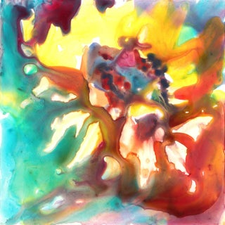 """""""Fire Flower"""" Watercolor Painting"""