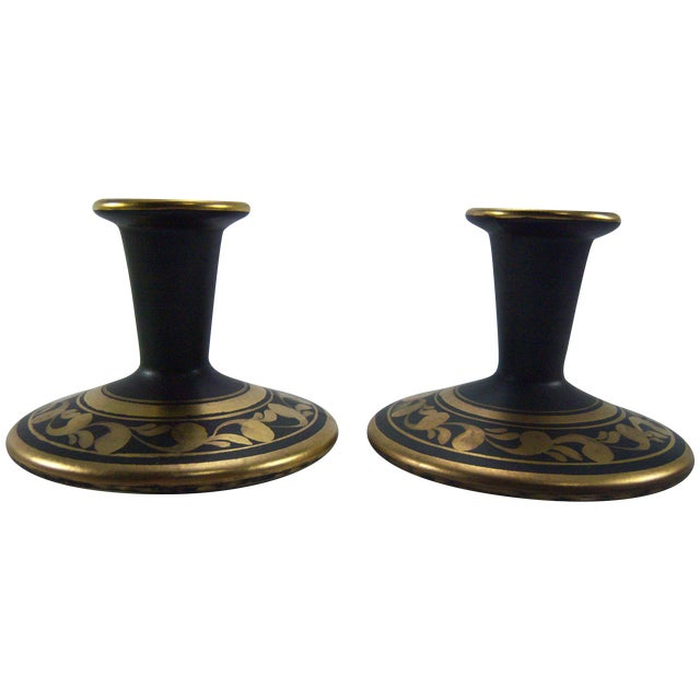 Vee Jackson Candle Holders - A Pair - Image 1 of 6
