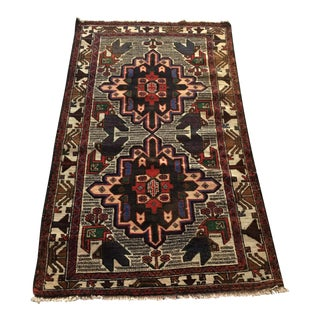 "Vintage Handwoven Mehraban Turkish Rug - 2'9"" x 4'9"""