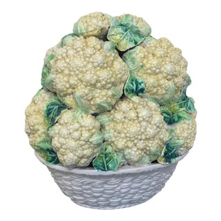 Italian Pottery Bowl of Cauliflower