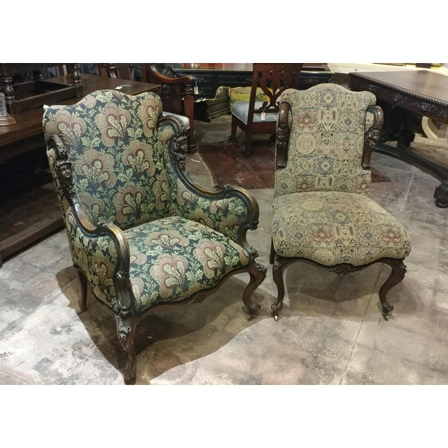 19th Century Victorian Tapestry Chairs - A Pair - Image 2 of 10