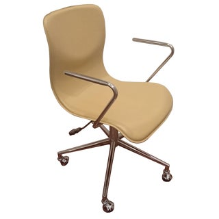 CB2 Leather Bubble Office Chair