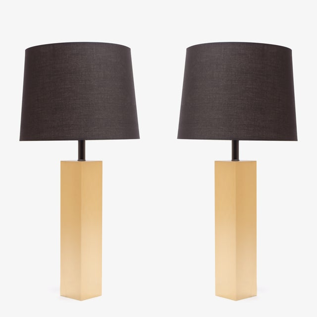 Image of Minimalist Brushed Brass Lamps by L. Paul Brayton Ltd.