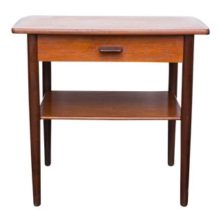 Danish Modern Poul Volther Style Teak Side Table