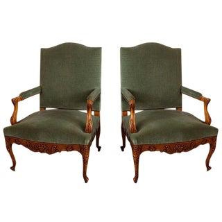 French Walnut Armchairs