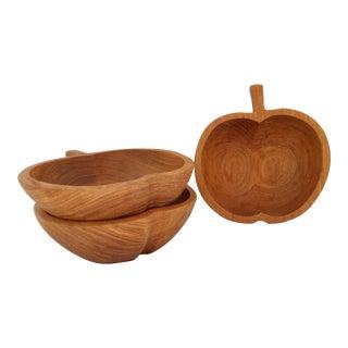 Mid-Century Teak Nut Bowls - Set of 3