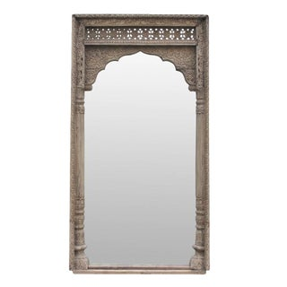 Rajwara Haveli Carved Door Frame Floor Mirror