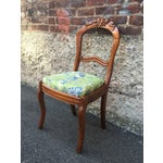 Image of Blue & Green Peacock & Floral Chair