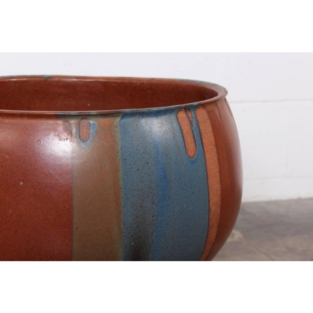 David Cressey Flame Glazed Planter for Architectural Pottery - Image 2 of 10