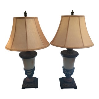 Gold Lamps - A Pair