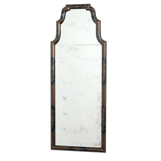English Chinoiserie Lacquered Mirror