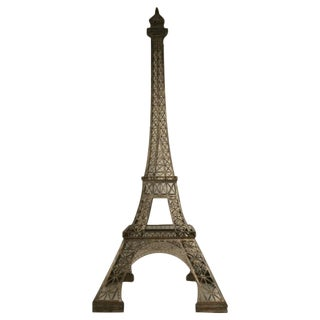 Vintage French 11' Steel Eiffel Tower Replica