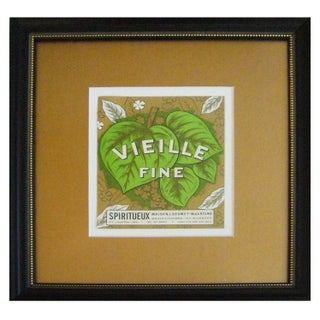 Framed French Vintage Wine Label