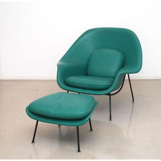 Vintage Leather Saarinen Womb Chair Amp Ottoman Chairish