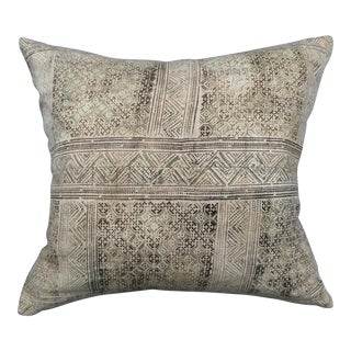 Hand Loomed Tribal Batik Textile Pillow