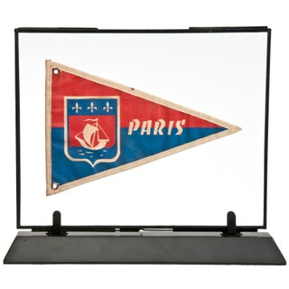 Framed Vintage French Paris Pennant