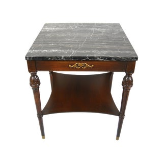 Italian Neoclassical-Style Marble Top Side Table