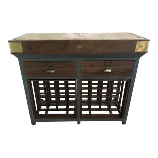 Williams-Sonoma French Chef Kitchen Island With Drawers and Wine Rack