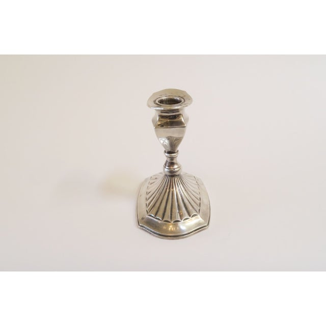 Small Silver Candlestick Holder - Image 2 of 5