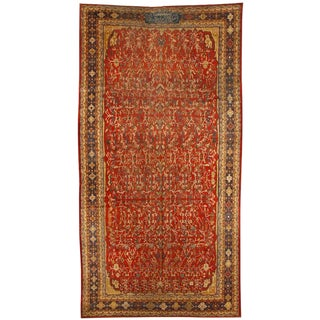 Exceptional Antique 19th Century Persian Qashqai Gallery Carpet