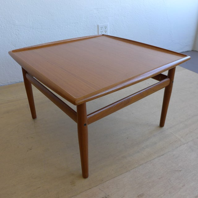 Eames Coffee Table Square: Grete Jalk Eames Era Teak Square End Table
