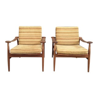 Finn Juhl for France & Son Lounge Chairs - A Pair