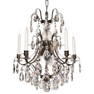 Baroque 5-Arm Almond Crystal Chandelier