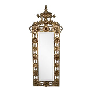 Antique Gilt Dolphin Wall Mirror