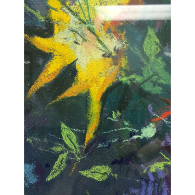 Bouquet Framed Pastel Painting by Leon Kelly - Image 6 of 8