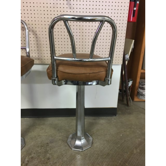 Chrome Soda Fountain Bar Stools - Set of 4 - Image 5 of 9
