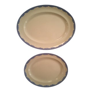 """English Oak"" Platters - a Pair"