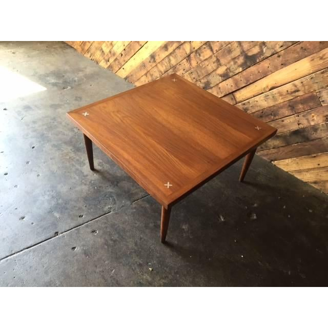 American of Martinsville Walnut Inlay Coffee Table - Image 4 of 7